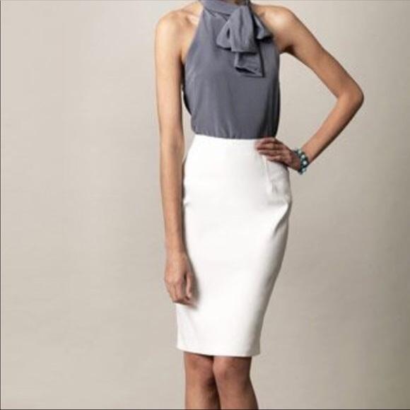 f73ea25052 ANTONIO MELANI Skirts | Pencil Skirt Size 8 White | Poshmark